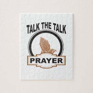 Talk the talk prayer jigsaw puzzle