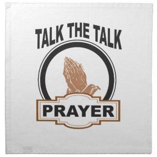 Talk the talk prayer napkin