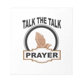 Talk the talk prayer notepad