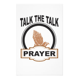 Talk the talk prayer stationery