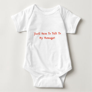 Talk to my momager! baby bodysuit