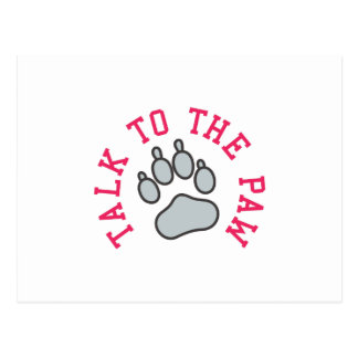 Talk to the Paw Postcard