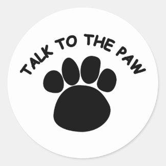 Talk to the Paw Sticker 2