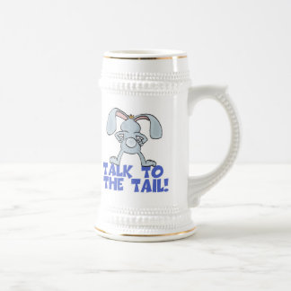 Talk to the Tail Bunny Rabbit Beer Stein