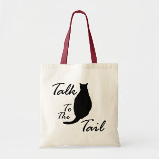 """Talk To The Tail"" tote bag"