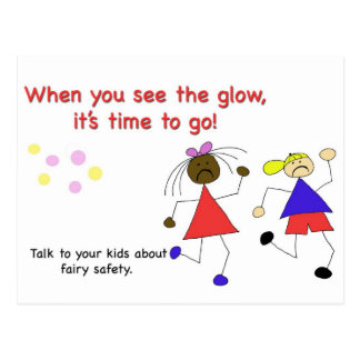 Talk to your Kids about Fairy Safety! Postcard
