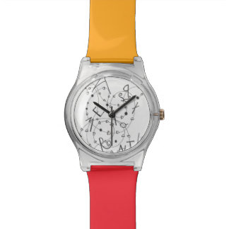 Talk Watch with linguistic artwork