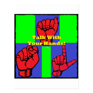 Talk With Your Hands! Postcard