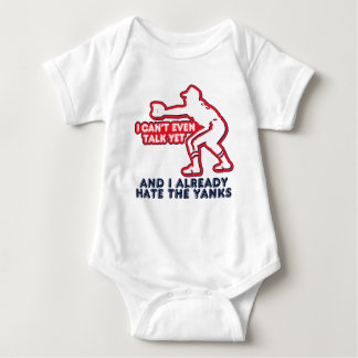 Talk Yet Yankees Hater Baby Bodysuit