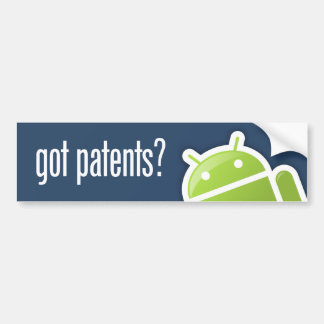 TalkAndroid Got Patents Bumper Sticker