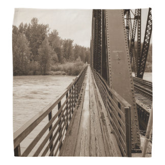 Talkeetna Railroad Bridge Walkway Kerchief
