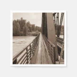 Talkeetna Railroad Bridge Walkway Paper Napkin