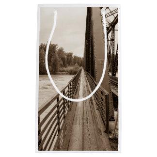 Talkeetna Railroad Bridge Walkway Small Gift Bag