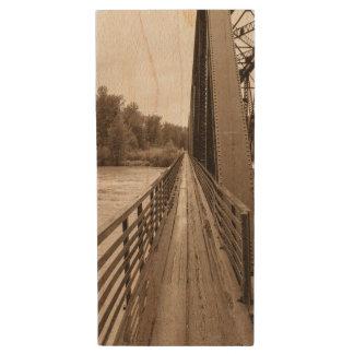 Talkeetna Railroad Bridge Walkway Wood USB 3.0 Flash Drive