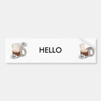 talking-beer-glass, talking-beer-glass, HELLO Bumper Sticker