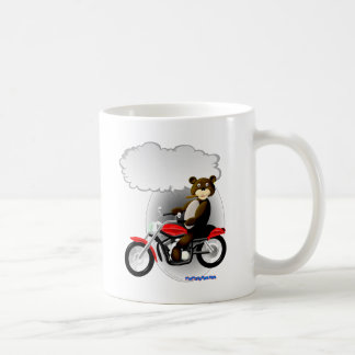 Talking Biker Teddy Bear Coffee Mug