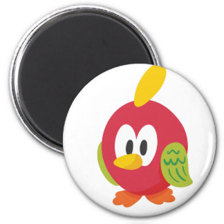talking bird walking 2 inch round magnet