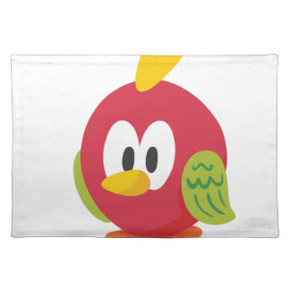 talking bird walking placemat