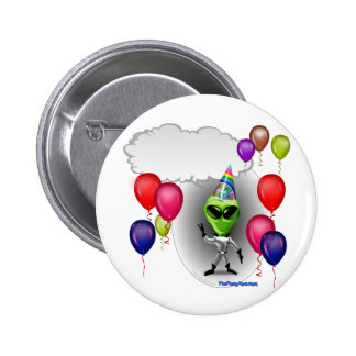 Talking Birthday Party Alien 2 Inch Round Button