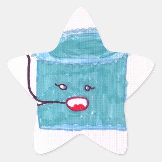 Talking Blue Cake Star Sticker