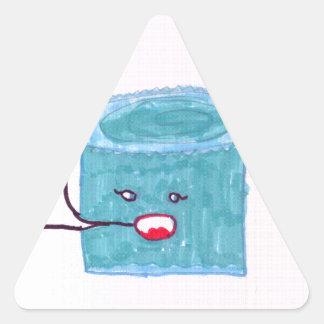 Talking Blue Cake Triangle Sticker