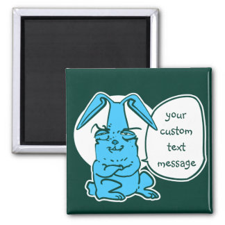 talking bunny funny cartoon magnet