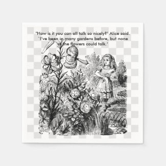 Talking Flowers Paper Napkins
