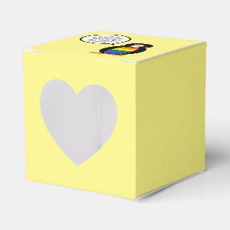 Talking Gay Pride Penguin Flag Wedding Favor Boxes