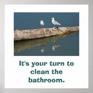 Talking Gull Poster