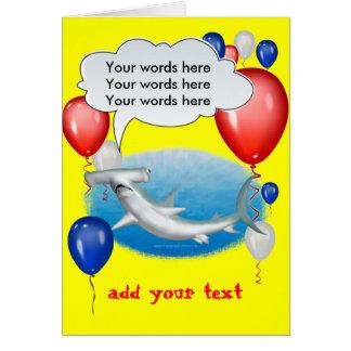 talking hammerhead shark card