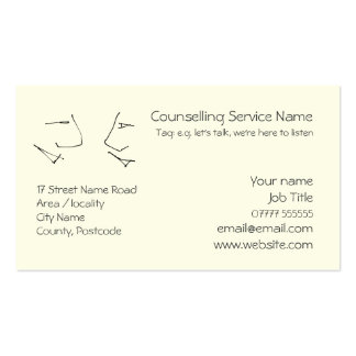 Talking Heads, line-art logo of two heads talking Pack Of Standard Business Cards