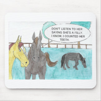 TALKING HORSE MOUSE PAD