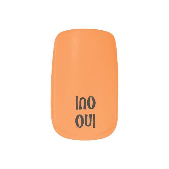 TALKing NAILS!  Oui/Non ... you decide Minx Nail Art