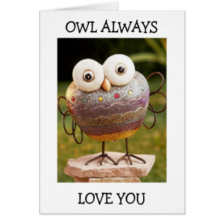 TALKING OWL=OWL ALWAYS LOVE YOU BIRTHDAY WISHES CARD
