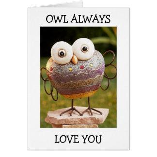 TALKING OWL=OWL ALWAYS LOVE YOU BIRTHDAY WISHES GREETING CARD