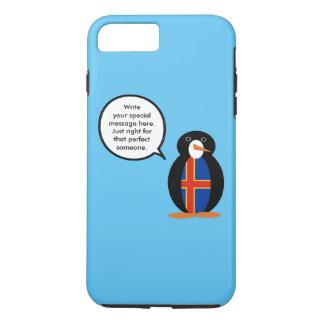 Talking Penguin Aland Islands Flag iPhone 7 Plus Case