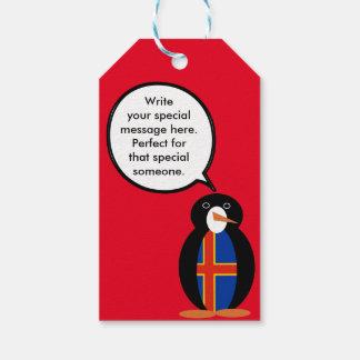 Talking Penguin Aland Islands Flag Pack Of Gift Tags
