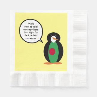 Talking Penguin Bangladeshi Flag Paper Napkins