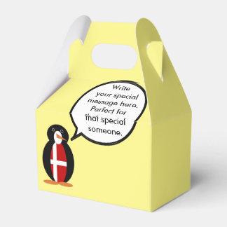 Talking Penguin Danish Flag Favor Box