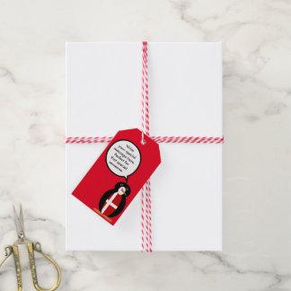 Talking Penguin Danish Flag Pack Of Gift Tags
