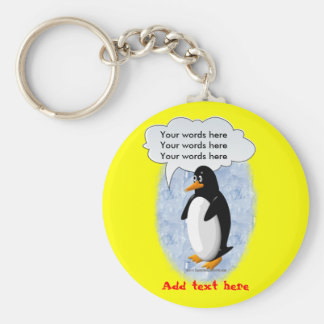 Talking Penguin Keychain