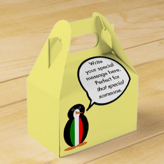 Talking+Penguin Wedding Favor Box
