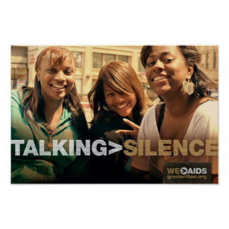 TALKING > SILENCE Girls Poster
