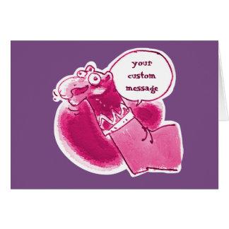 talking sock puppet says something cartoon card
