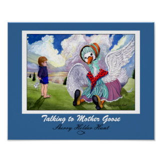 Talking to Mother Goose Print - Customized
