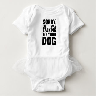 Talking to Your Dog Baby Bodysuit