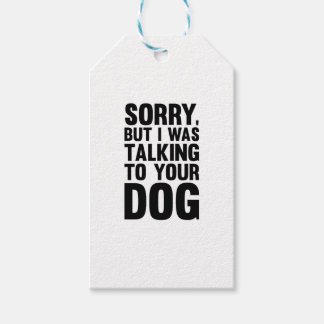 Talking to Your Dog Gift Tags