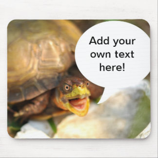 Talking Turtle Says What's on Your Mind Mouse Pad