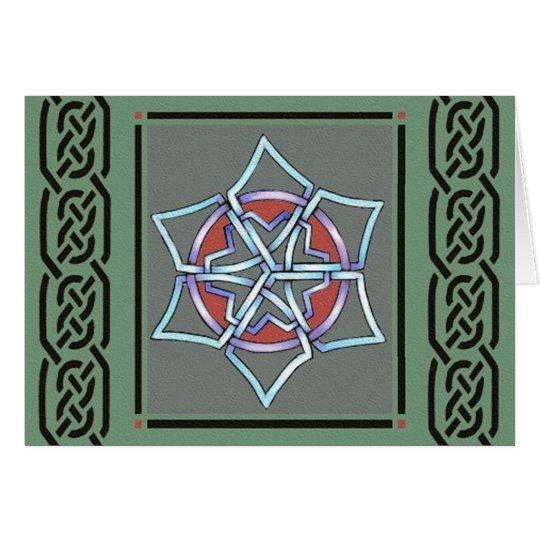 talkingfox - celtic snowflake card