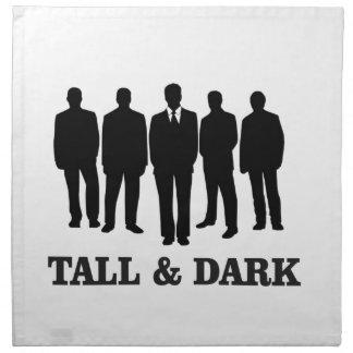 tall and dark males napkin